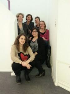 (De haut en bas) Sandrine, Dominique, Geneviève, Delphine, Isabelle et Nadia